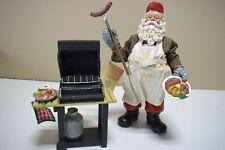 Vintage Kurt Adler SANTA  with Barbecue Grill   (820D)