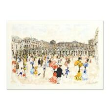 """Urbain Huchet - """"Louvre"""" Limited Edition Lithograph, hand signed,  EA 30/50"""