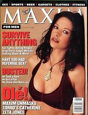 Maxim Magazine July/August 1998 Catherine Zeta-Jones EX No ML 100616jhe