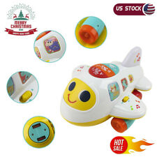 Baby Toys Electronic Airplane Toys W/Lights Music Kids Educational Toddler Toys