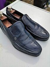 Mens BARKER Leather Navy Blue Slip-on Loafer Shoes UK 9 E