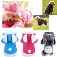 Pet Dog Cat Coat Jacket Clothes Cute Puppy Jumpsuit Warm Sweater Winter Apparel