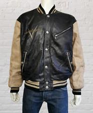 Harley Davidson An American Legend Leather Bomber Varsity Style Jacket Size L