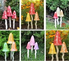Garden Ornaments Toadstools Ceramic Fairy Decoration Mushrooms Pixie Magical