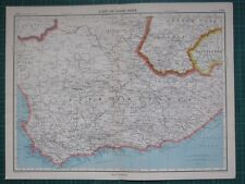 1952 Large Map ~ Cape Of Good Hope Cape Town Basutoland
