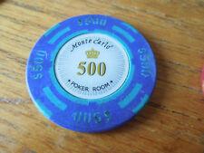 $500 Poker Chip Golf Ball Marker  - Monte Carlo - Heavy 14g Chip