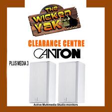 CANTON Active Multimedia Studio-monitor Speaker (pair) PLUS MEDIA 3 White- NEW