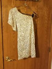 Size Small Ivory Dress Gold Silver Sequins- GREAT Condition- SEE DESCRIPTION