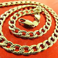 NECKLACE CHAIN REAL 18K YELLOW G/F GOLD SOLID FILIGREE ANTIQUE DESIGN FS3A291