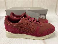 Asics Gel Lyte Burgundy Men's Trainers UK 8 Running Shoes Fitness New In Box