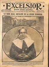 Soeur Julie Légion d'Honneur Hôpital de Gerbeviller Président Poincaré WWI 1914