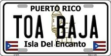 TOA BAJA Puerto Rico Novelty State Background Metal License Plate