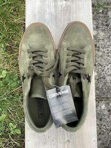 Khaki Green Suede Converse Trainers - size 6 NWT