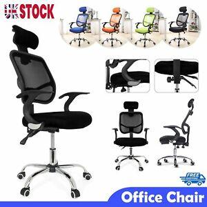 Luxury Ergonomic Office Chair Adjustable Swivel Executive High Back Mesh Chairs