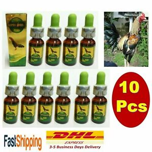 10x Super Green Plus Chicken Rooster Supplementary Food Sore Throat Cure Fever