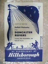 1960 Sheffield Wednesday v Doncaster Rovers, 29th Nov (County Cup Semi Final)