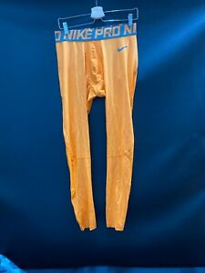 MIAMI DOLPHINS GAME USED ORANGE NIKE PRO COMPRESSION PANTS NEW IN BAG SIZE