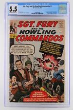 Sgt. Fury #1 - CGC 5.5 FN-  Marvel 1963- 1st App of Sgt. Nick Fury & The Howlers
