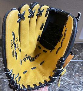 "Nike Kaos 1008 Youth Baseball Glove 10"" Left Hand Throw LHT Yellow Black Used"