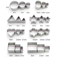 24X Stainless Steel Round Circle Cookie Cutter Fondant Cake Paste Mould Set A55