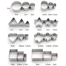 24pcs/set Round Circle Cookie Cutter Fondant Cake Paste Mould Stainless Steel