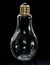 GIANT HUGE NOVELTY LIGHT BULB JAR PAPERWEIGHT CRAFT DECOR BOTTLE w/ SCREW ON CAP