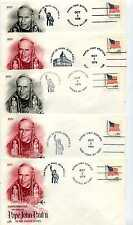 Pope John Paul II Visit to the United States, set of nine ArtCraft Covers
