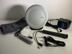 Sony DEJ1000 Silver CD Walkman Portable CD Player D-EJ1000 Excellent Condition