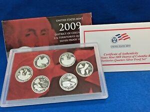 INC Box /& COA 2009 S  Proof DC /& US Territories Quarters Set Clad 6 Coins