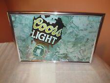 Coors Light Beer Sign 1995 Ice Waterfall Nice (Rare)