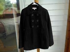 Liz Lange Maternity Black Pea Coat Size M