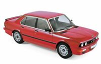 NOREV 183262 BMW E28 M535i  diecast model road car red body 1986 1:18th scale