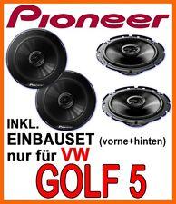 VW Golf 5 V  PIONEER  LAUTSPRECHER BOXEN EINBAUSET VORNE+HINTEN KOMPLETTSET  NEU