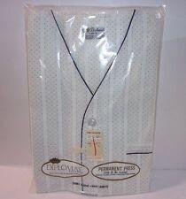Vtg NIP Mens Short Size L Summer Pajamas Set Sleepwear Diplomat Navy Blue White