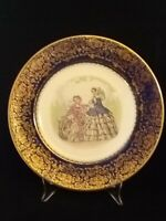 Vintage Imperial by Salem China Co Service Plate 23 Karat Victorian Made in USA