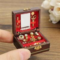 1PCS 1/12 Dollhouse Miniatures Jewelry Box Doll Room Decor House Accessory
