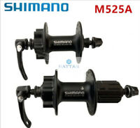 Shimano HB-M525A / FH-M525A 32h Front & Rear 6-Bolt Disc Hub Black One Set