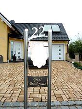 Briefkastenständer 175cm  Freistehend Edelstahl Hausnummer
