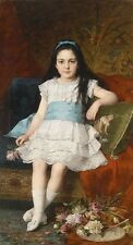 """perfact 24x36 famous oil painting handpainted on canvas """"a girl""""@N161"""