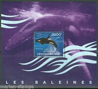 CENTRAL AFRICA  2014 WHALES   SOUVENIR SHEET II    MINT NH