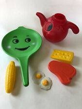 Vintage Empire Plastics Fry Pan, Pitcher, Food Blow Mold 1968 Kitchen Toy Rare