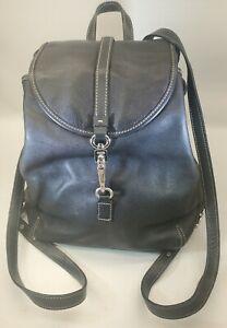 COACH Vintage Black Chrome Legacy Backpack Leather Studio  Daypack 9368 Rare