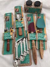 Pioneer Woman Kitchen Utensils Spatula Whisk Scoop Jars Measure Spoons