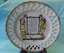Indian. WARRIOR Chief poem china plate RARE  Mid Century Maiden marriage