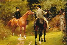 Goubie Equestrian Art Print THE AFTERNOON RIDE Victorian Lady Sidesaddle Horse