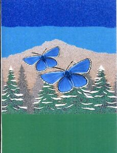 12 ADONIS BLUE MINI GIFT NOTELETS WITH NO ENVELOPES [FREE P&P]
