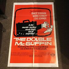 """The Double McGuffin"" ORIGINAL 41"" x 27""  MOVIE POSTER Ernest Borgnine 1979 GOOD"