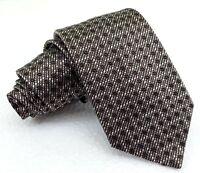 Krawatte brau & beige 8 cm klassisch seide Italien business Büro hochzeit