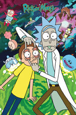 A4 A3 A2 A1 A0| Rick And Morty TV Show Psychedelic Poster Print T226