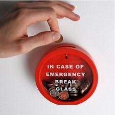 Round Novelty Money Box Saving Bank Emergency Coin Smash Piggy Bank Kids Gift G